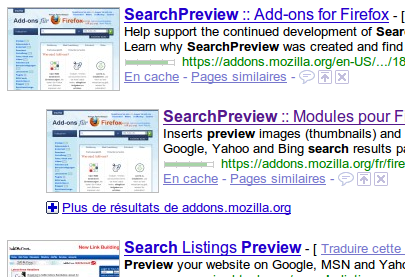 Extension Firefox: Search Preview